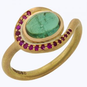 Tourmaline twirl ring