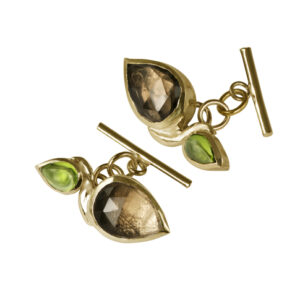 Botanical cufflinks (made in gold)