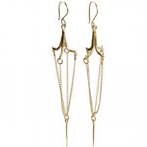 Chandelier Earrings (Gold plated)