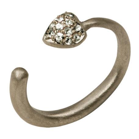fq heart ring white gold