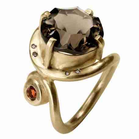 fq smokey quartz ring g