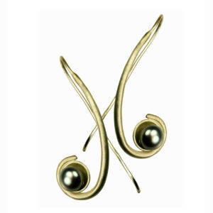 Goldplated twirl earrings