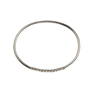 Barbed silver bangle