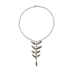 Textured botanical necklace