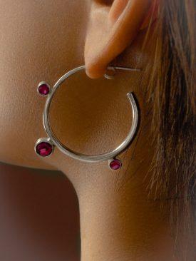 Botanical hoop earrings