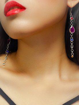 Botanical Red Drop Earrings