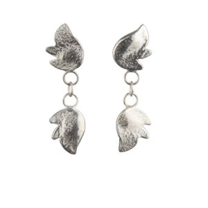 Hope dangling silver earrings