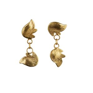 Hope 22 carat gold plated dangling earrings