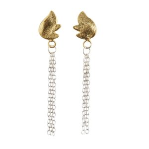 Hope earrings with 22 carat gold plated detail